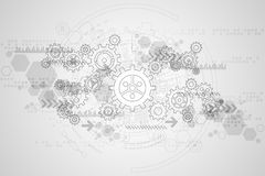 Vector abstract background technology gears concept. Vector abstract background shows the innovation of technology and technology concepts vector illustration