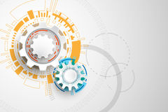 Vector abstract background technology gears design. Vector abstract background shows the innovation of technology and technology concepts Stock Image