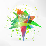 Vector abstract background template with triangle banner. Stock Images