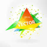 Vector abstract background template with triangle banner. Stock Image