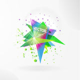 Vector abstract background template with triangle banner. Royalty Free Stock Photos