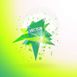 Vector abstract background template with triangle banner. Royalty Free Stock Photography