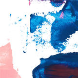 Vector abstract background texture brush stroke hand painted with acrylic paint, blue and pink on white.  Royalty Free Stock Images