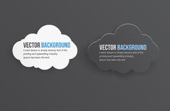 Vector abstract background thunderstorm cloud. Royalty Free Stock Image