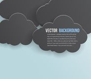 Vector abstract background bubble. Paper. Vector abstract background thunderstorm cloud. Paper stock illustration