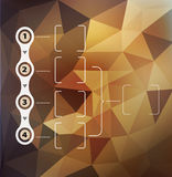 Vector abstract background with triangles and infographics eleme Stock Photos