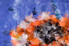 Vector abstract background of triangles. Vector multicolored abstract background of effect geometric triangles Royalty Free Stock Photo