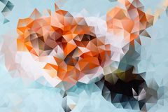Vector abstract background of triangles. Vector multicolored abstract background of effect geometric triangles Stock Photo