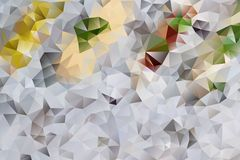 Vector abstract background of triangles. Vector multicolored abstract background of effect geometric triangles Stock Image