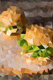 Vector abstract background of triangles Stock Photo