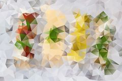 Vector abstract background of triangles Stock Photos
