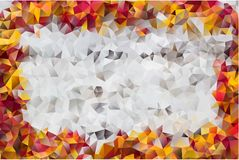 Vector abstract background of triangles. Vector multicolored abstract background of effect geometric triangles Royalty Free Stock Image