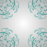 Vector abstract background. Turquoise clean vector abstract vintage ornament background Royalty Free Stock Image