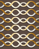 Vector abstract background. With twisted spiral gold color on a brown background Royalty Free Stock Photo