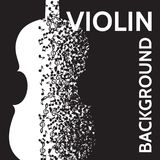 Vector abstract background with violin and notes Royalty Free Stock Photography