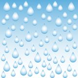 Vector abstract background with water drops on blue gradient. EPS10 stock illustration