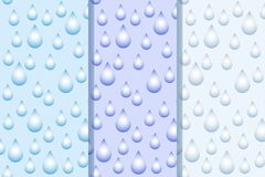 Vector abstract background with water drops on blue gradient royalty free illustration