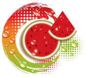 Vector abstract background with watermelon. Vector abstract background with fresh watermelon vector illustration