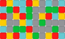 Vector abstract background with white grid and small squares. Vector abstract background with white grid and colorful small squares. Vector concept illustration stock illustration