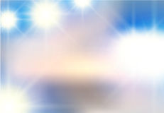 Vector abstract background of white light beaming flashes. Light elements on a blue sky Royalty Free Stock Image