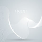 Vector abstract background with white mesh, waves lines. Stock Photo