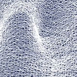 Vector abstract background with white web of lines on blue. EPS10 stock illustration
