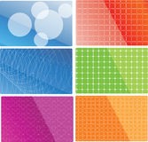 Vector abstract backgrounds. 6 variants Stock Photography