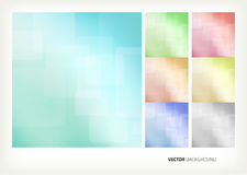 Vector abstract backgrounds. Set blue  abstract backgrounds Stock Photo