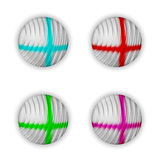 Vector abstract ball. Set of four vector abstract ball Royalty Free Illustration