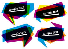 Vector abstract banner bubble shapes colored Royalty Free Stock Photo