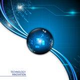 Vector abstract banner communicatie innovatieconcept Royalty-vrije Stock Foto