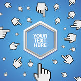 Vector abstract banner with copy space for text Royalty Free Stock Images