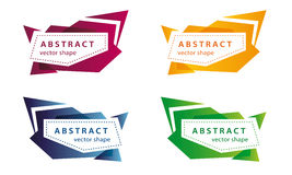 Vector abstract banner shapes colored Royalty Free Stock Image