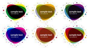 Vector abstract banner shapes colored Stock Images