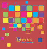 Vector Abstract Banner With Squares Stock Image