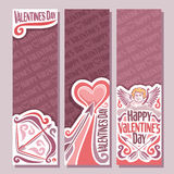 Vector abstract banners for Happy Valentine`s Day Royalty Free Stock Photo
