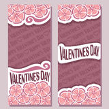 Vector abstract banners for Happy Valentine`s Day Stock Image