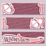 Vector abstract banners for Happy Valentine`s Day Stock Photos