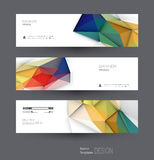 Vector abstract banners set with polygonal, Geometric, Triangle pattern shape. Abstract polygonal ( low poly ) with blank space. Polygon vector background for Stock Image
