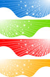 Vector abstract banners with stars Stock Photo