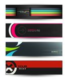 Vector abstract banners for web header Stock Photos