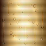 Vector abstract beige background with   stripes and water drops Royalty Free Stock Photo
