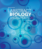 Vector Abstract biology background. With moleculs and virus Royalty Free Stock Image