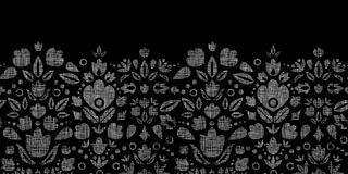 Vector abstract black lace ornamental tulips Royalty Free Stock Photography