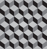 Vector abstract black seamless pattern made from stacked cubes Stock Photography