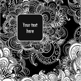 Vector abstract black and white background. Stock Images