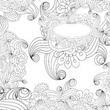 Vector abstract black and white background. Royalty Free Stock Image