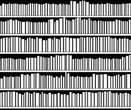 Vector abstract black and white bookshelf Stock Photos