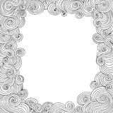 Vector abstract black and white decorative frame with curling lines Royalty Free Stock Images
