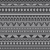 Vector abstract black and white tribal stripes seamless pattern background. Great for fabric, wallpaper, invitations. Scrapbooking. Surface pattern design Royalty Free Stock Photography